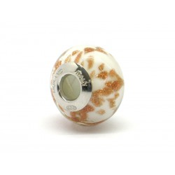 Pandora Style Bead (Mod. RAM4) in authentic Murano Glass and 925 Italian Sterling Silver
