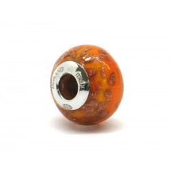 Pandora Style Bead (Mod. RAM5) in authentic Murano Glass and 925 Italian Sterling Silver