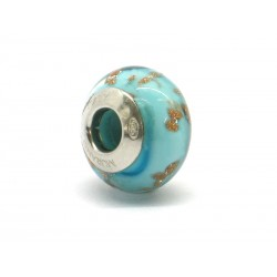 Pandora Style Bead (Mod. RAM6) in authentic Murano Glass and 925 Italian Sterling Silver