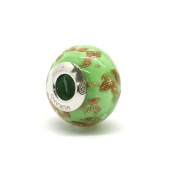 Pandora Style Bead (Mod. RAM9) in authentic Murano Glass and 925 Italian Sterling Silver