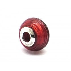 Pandora Style Bead (Mod. FARIG87) in authentic Murano Glass and 925 Italian Sterling Silver