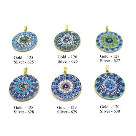Murrina Pendant in Sterling Silver (B26) Casanova Design, 26 mm in diameter
