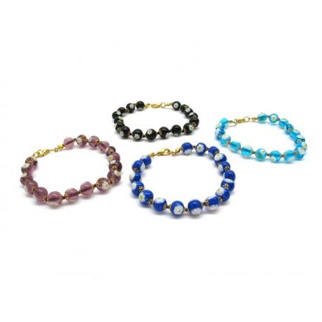 70% di Sconto - Bracciale in perle di Murano, Mod. Margherita (Disponibile in 8 Colori)