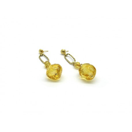 70% off - Murano Glass Earrings Mod. Maria, made with beads 20x16 mm