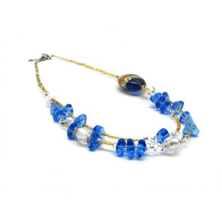 70% di Sconto - Collana in perle di Murano, Mod. Ida