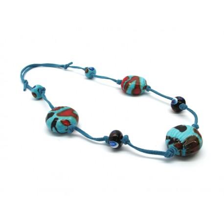 70% di Sconto - Collana in perle di Murano, Mod. Sahara