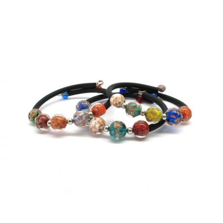 Murano Glass Bracelet - Mod. Rebecca Sommerso, 20 cm (Available in 4 Colours)