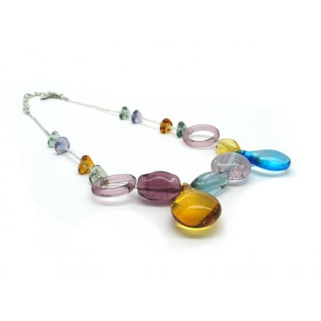 Murano Glass Necklace - Mod. Arianna, 50 cm (Available in Ass. Colours)