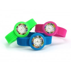 Murano millefiori watch, Rubber case in 16 Colours - Mod. Carnevale, Assorted Straps