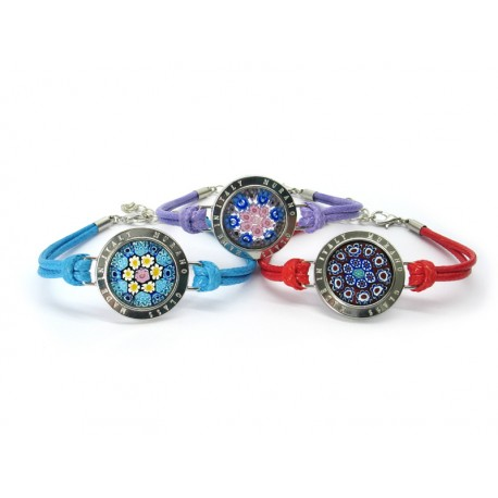Murano Glass Bracelet - Mod. Lauretta, 21 cm (Available in assorted Colurs)