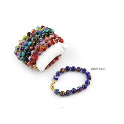 Murano Glass Bracelet - Mod. Mosaico, 21 cm (Available in 10 Assorted Colours)