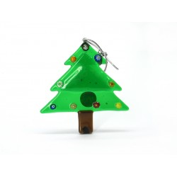 Murano Glass Christmas Tree Ornament - Mod. Albero - 80x80 mm