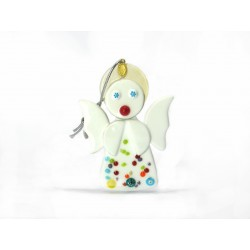 Murano Glass Angel Christmas Ornament - Mod. Angelo - 80x60 mm