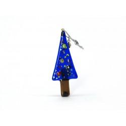 Pendente di Natale in Vetro di Murano - Mod. Pino - 90x35 mm