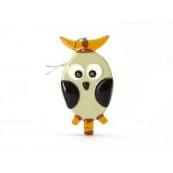 Murano Glass Owl Christmas Ornament - Mod. Civetta - 100x50 mm