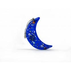 Pendente di Natale in Vetro di Murano - Mod. Luna - 80x25 mm