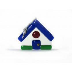 Murano Glass Christmas House Ornament - Mod. Casetta - 80x70 mm