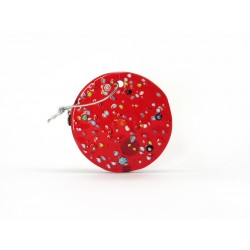 Murano Glass Flat Disc Christmas Ornament - Mod. Palla - Diam. 80 mm