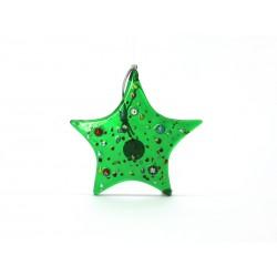 Pendente di Natale in Vetro di Murano - Mod. Stella - 85x85 mm