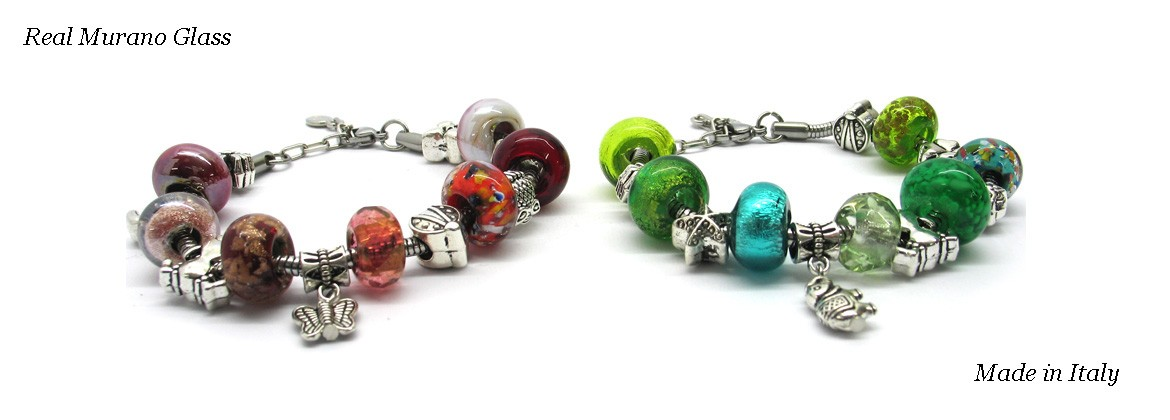 Pandora Glass Bracelet - Mod. Anita, 23 cm (Available in 5 Colours)