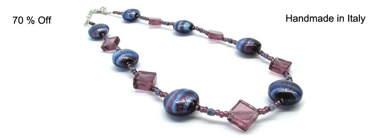 Collana in perle di Murano (45 cm), Mod. Nadia,