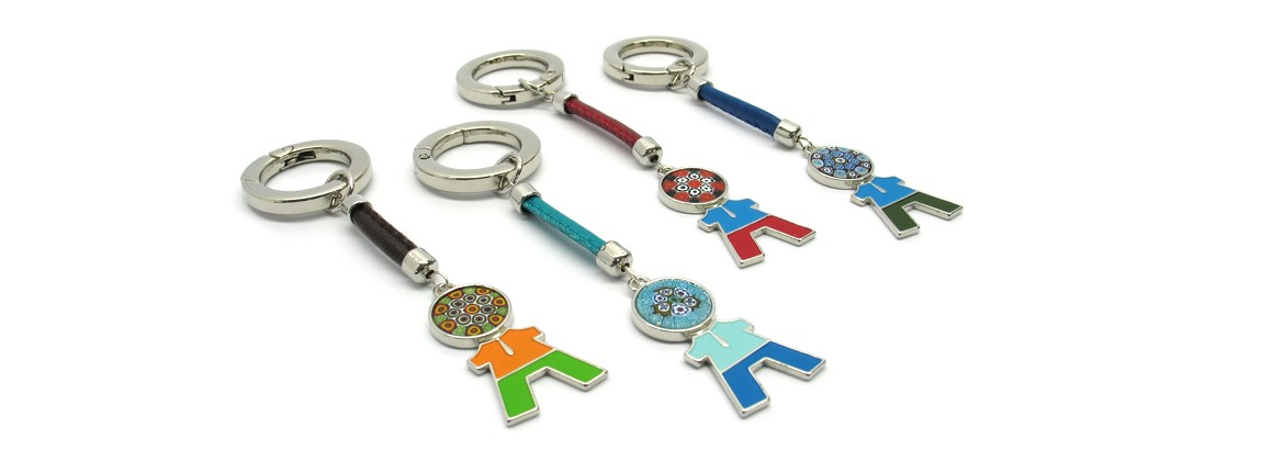 Murano Glass, Charms Bag or Keychain, (Kid) made with Murrina (Assorted Colors)