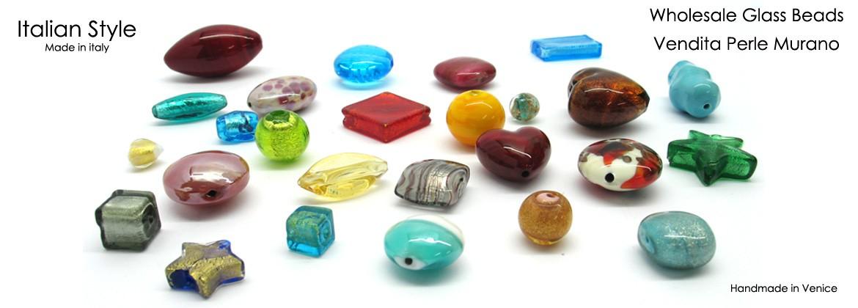 Wholesale Murano glass beads, handmade in Venice Italy
