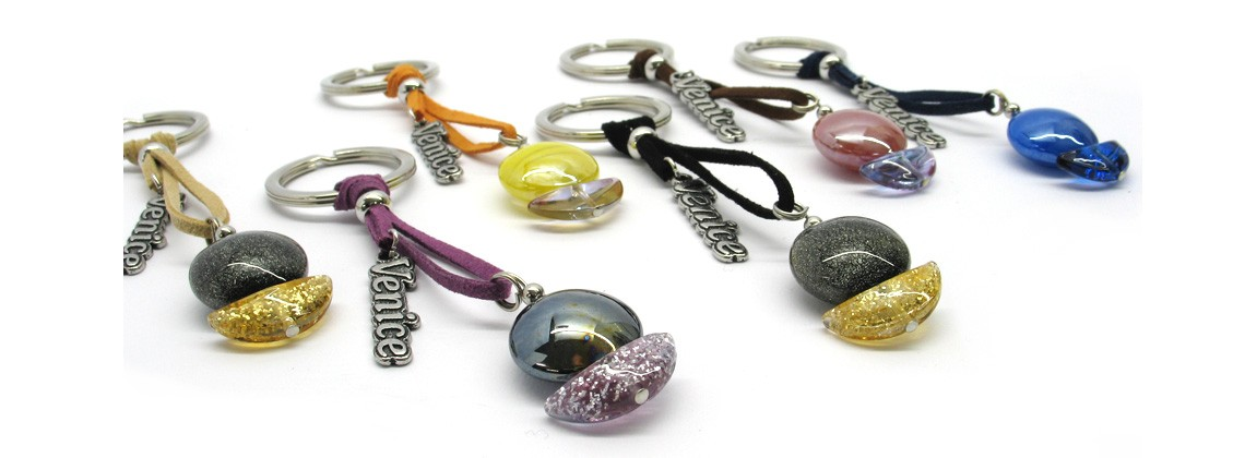 Murano Glass keyrings Barca