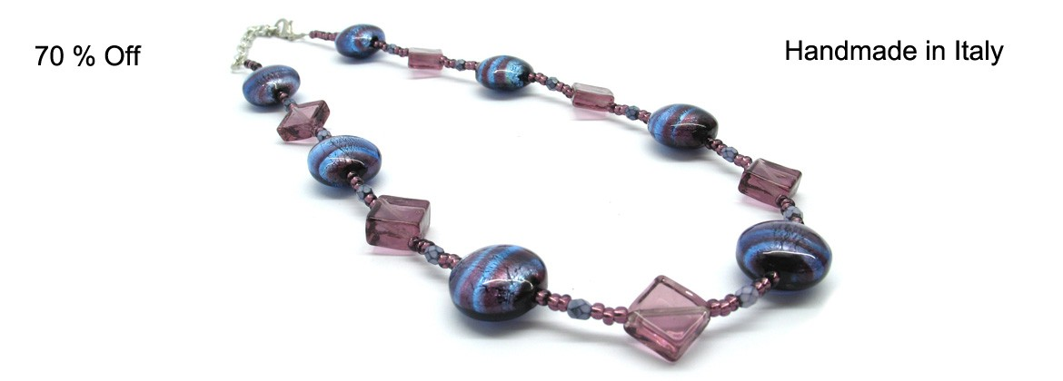 Murano Glass Necklace, Mod. Nadia