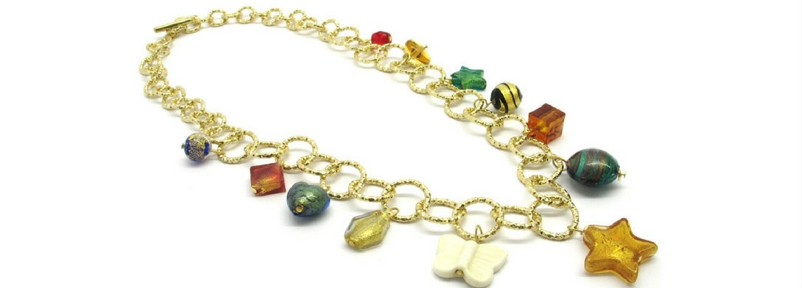 Murano Glass Necklace - Charms