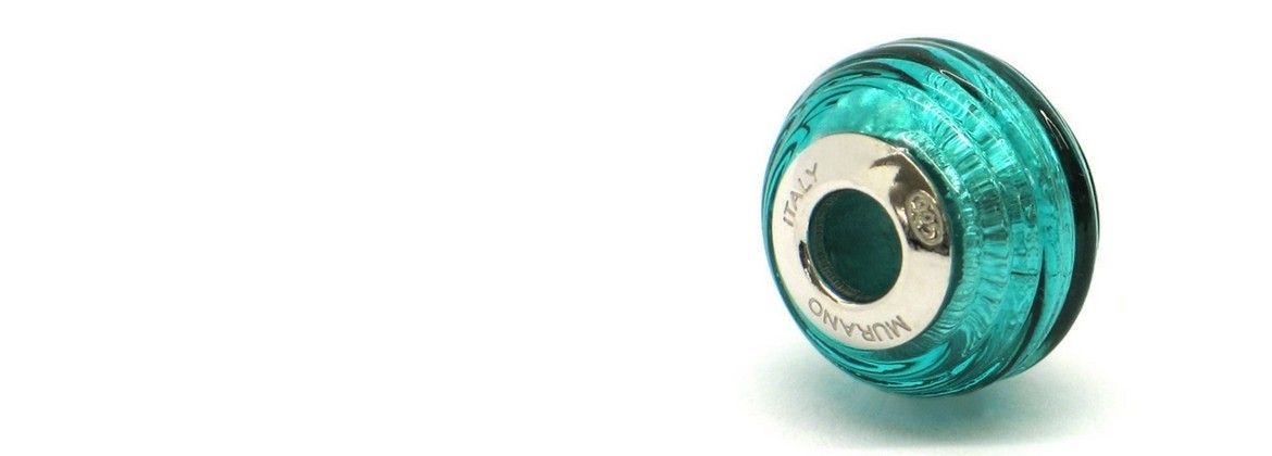 Beads Pandora in real Murano Glass and Silver